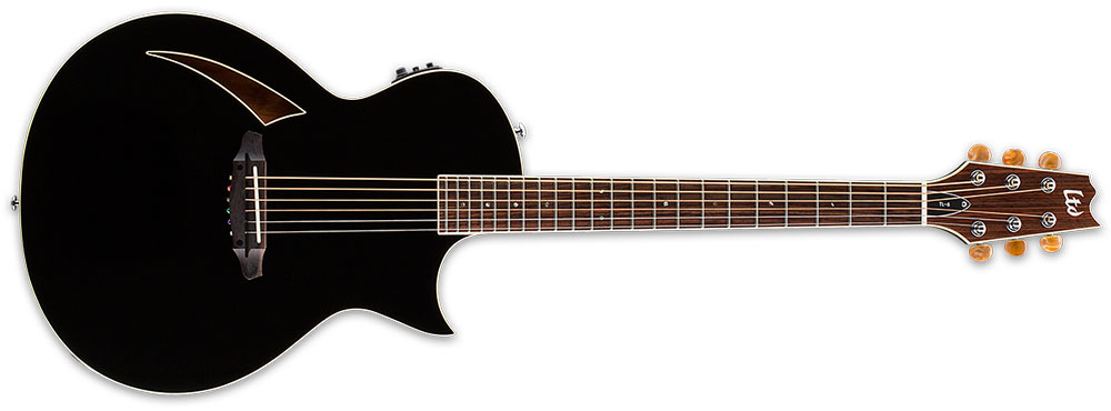 ESP LTD TL-6S BLK 6-String TL-Series Acoustic-Electric Guitar - Black Finish (LTL6BLK)