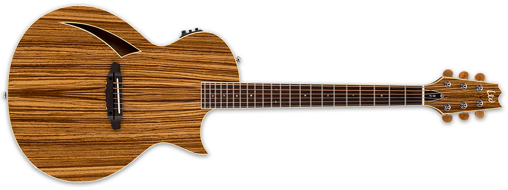 ESP LTL6ZNAT Acoustic-Electric Guitar 6-String With Zebrawood Top