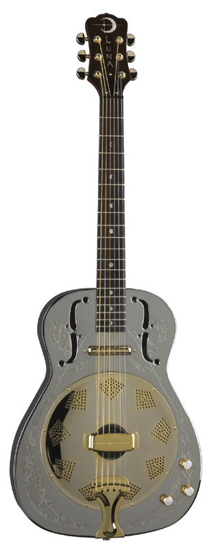 luna folk bluegrass steel magnolia resonator acoustic guitar w grover tuners st mag res. Black Bedroom Furniture Sets. Home Design Ideas