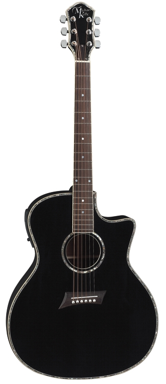 Michael Kelly Nostalgia 15CE Acoustic / Electric Cutaway Guitar - Black Finish (N15CEBK)