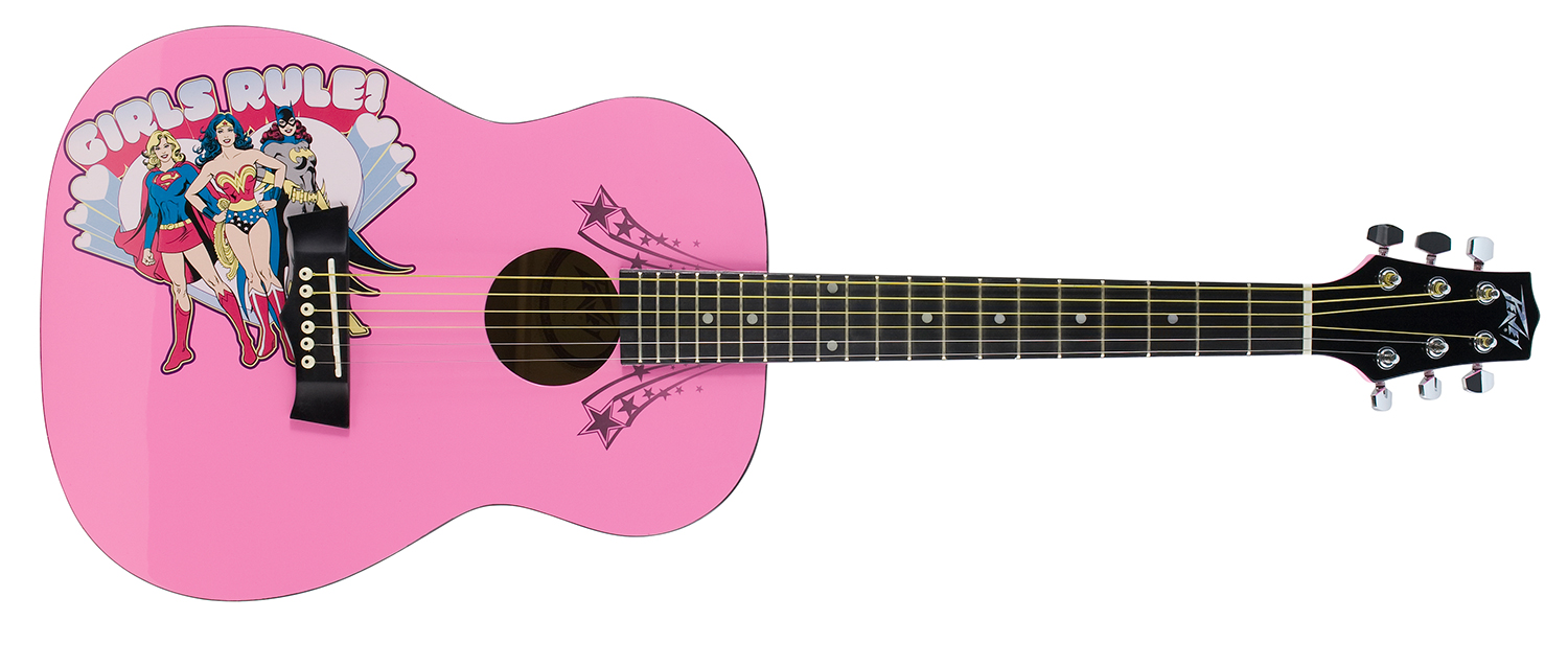 Peavey DC Comics Girls Rule 3/4 Size Acoustic Guitar with Gloss Polyurethane Finish (3019680)