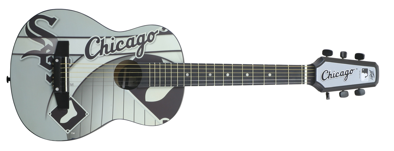 peavey 1 2 size student acoustic mlb chicago white sox first beginner guitar new 14367634020 ebay. Black Bedroom Furniture Sets. Home Design Ideas