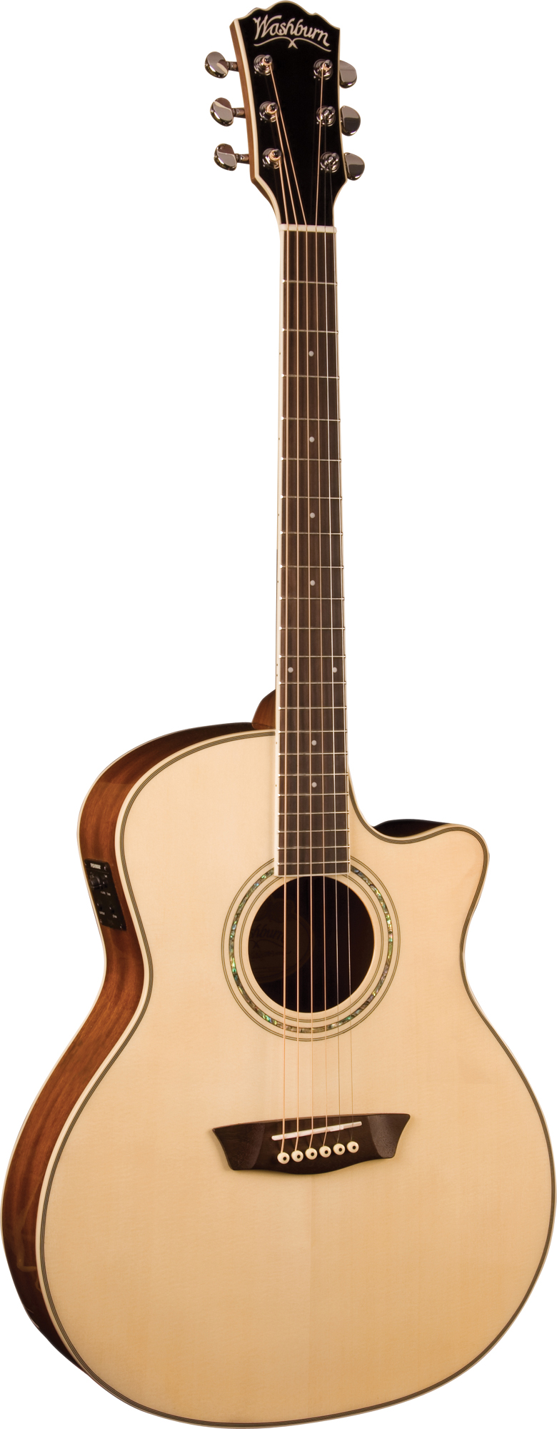 washburn wcg18ce comfort series acoustic guitar with chrome tuners and natural finish was12. Black Bedroom Furniture Sets. Home Design Ideas