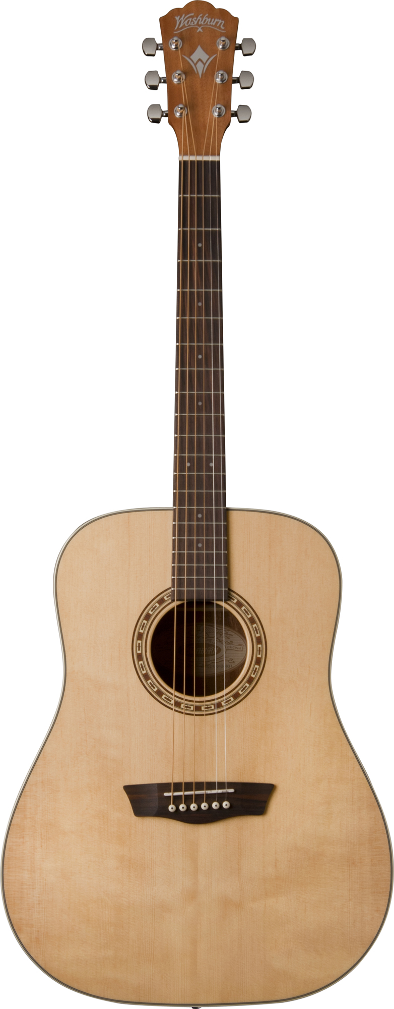 Washburn WD7S Dreadnought Style Guitar with Catalpa Back & Sides Natural Finish