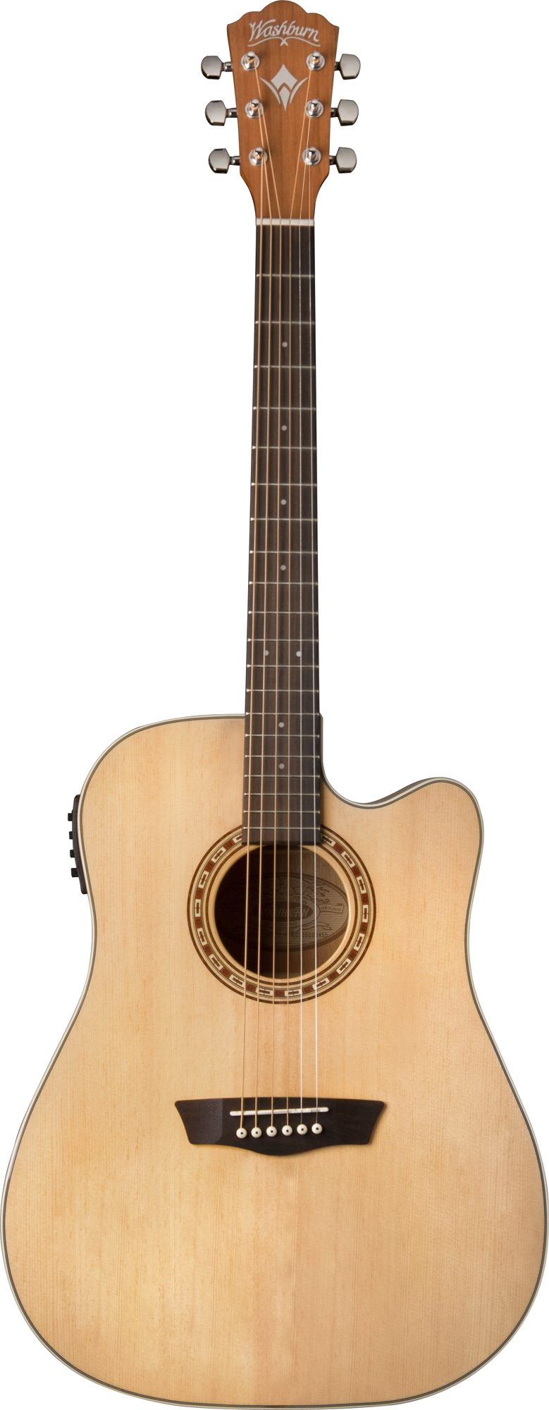 washburn wd7sce acoustic electric guitar with rosewood bridge tobacco burst finish was12 wd7sce. Black Bedroom Furniture Sets. Home Design Ideas