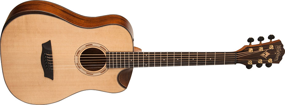 Washburn WCDM15SK 6-String Comfort Series Acoustic Guitar - Natural Finish