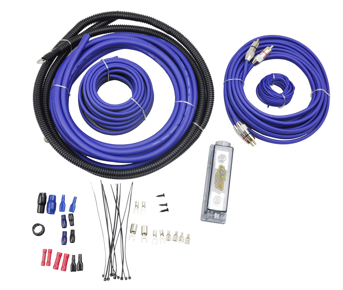 Audio Legion W-Kit-2 Car Audio Amplifier Install Kit 4 Gauge Amp ...
