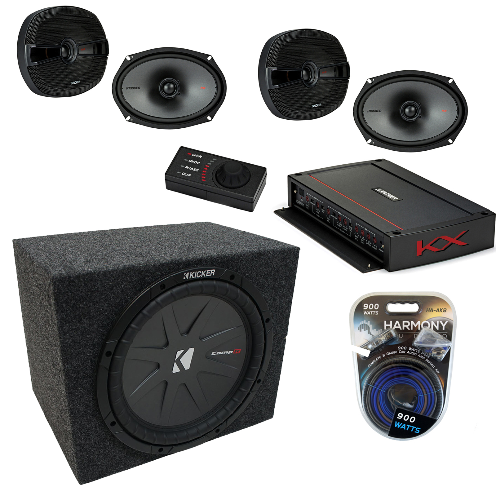 Kicker Car Audio 5 Channel Amplifer with 10
