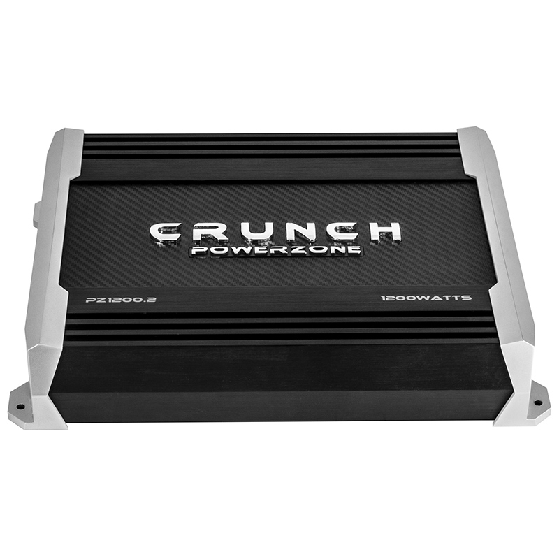 Crunch PZ1200.2 2-Chanel Bridgeable Powerzone Series Amplifier with Speed-Fets Devices