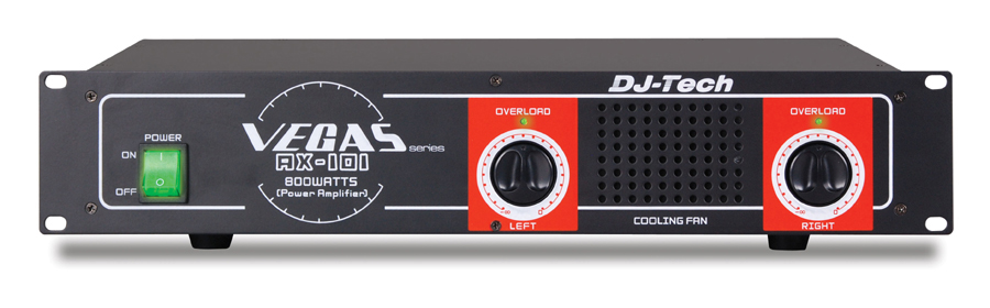 DJ Tech AX 101 800 Watts Power Amplifier