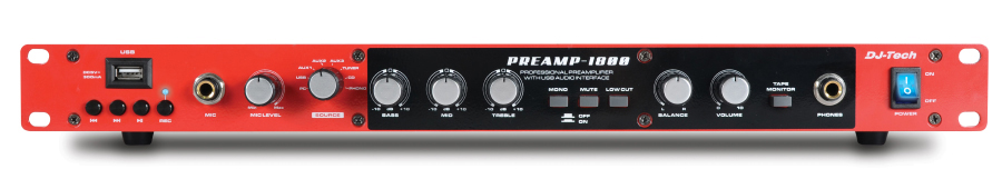 dj tech preamp 1800 8 channel professional preamplifier w usb audio interface usb direct. Black Bedroom Furniture Sets. Home Design Ideas
