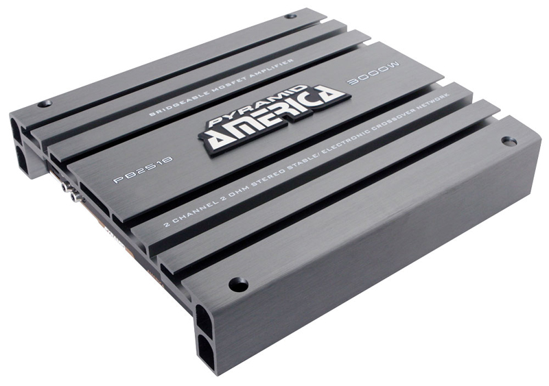 Pyramid Car Audio PB2518 3000 Watt 2 Channel Bridgeable Mosfet Amplifier