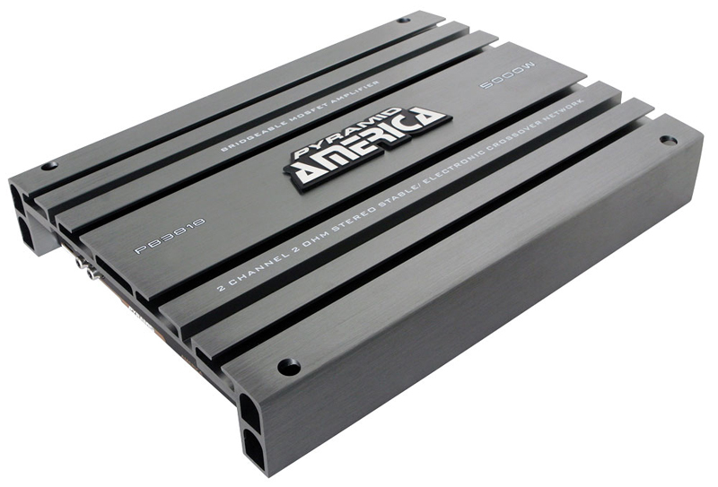 Pyramid Car Audio PB3818 5000 Watt 2 Channel Bridgeable Mosfet Amplifier