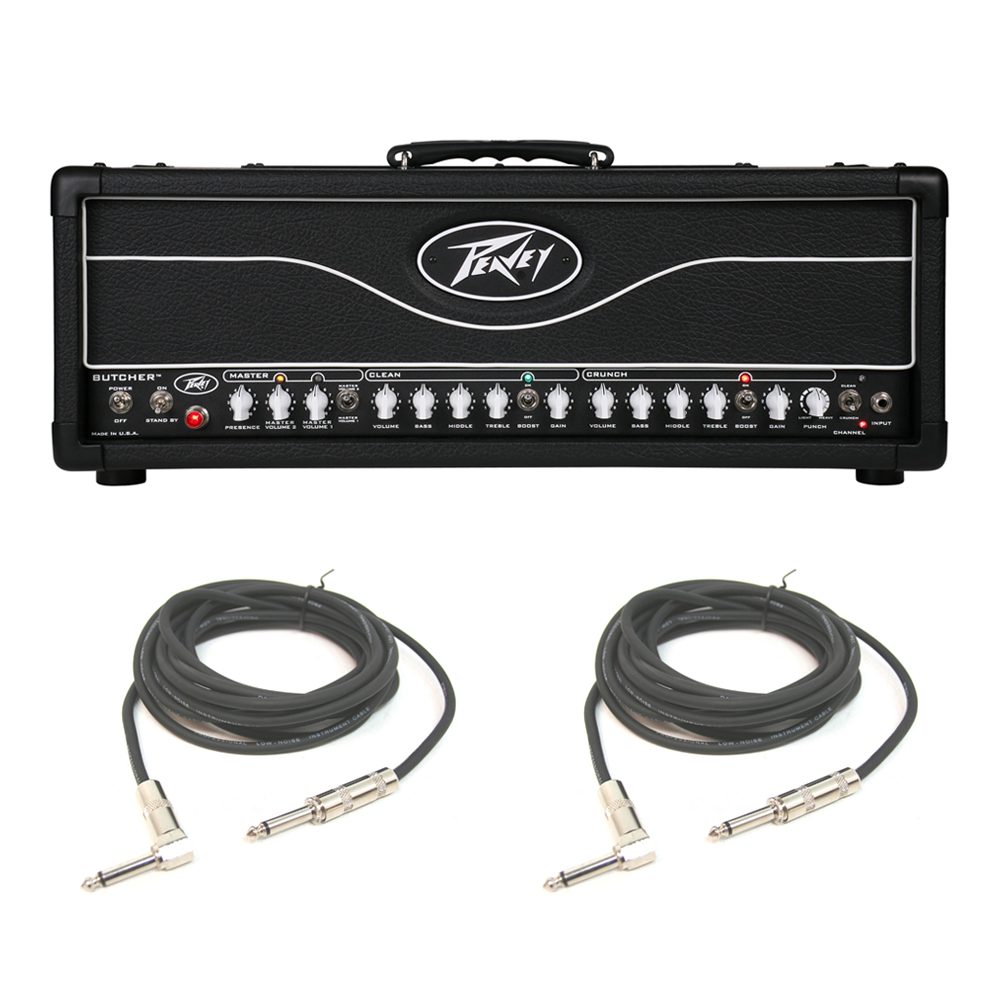peavey butcher electric guitar 2 channel amplifier head 100w cabinet amp cable pev13 3601080. Black Bedroom Furniture Sets. Home Design Ideas