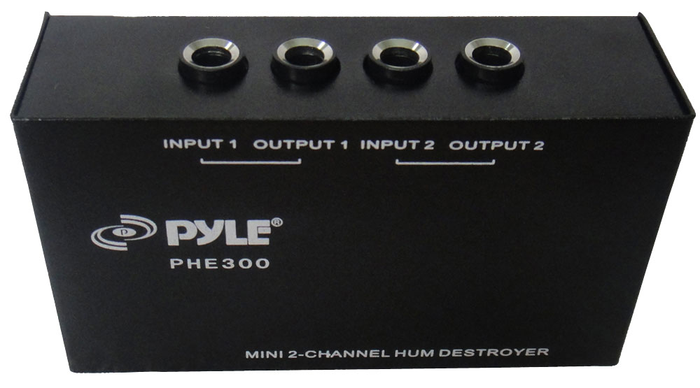 Pyle Home PHE300 Ultra-Compact Design 2-Channel Noise Destroyer Headphone Amp