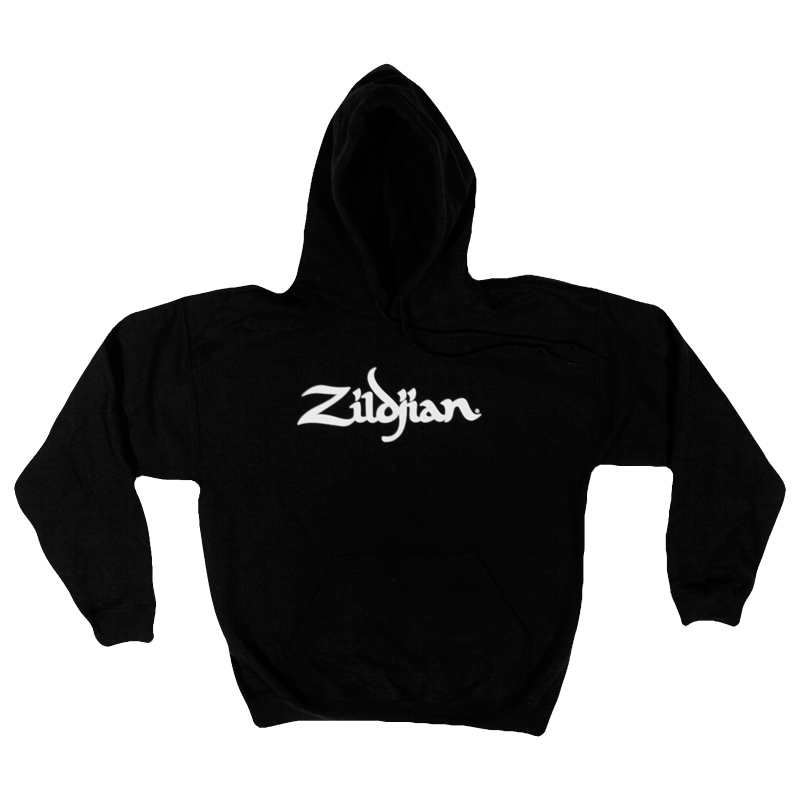 Zildjian T7102 Classic Sweatshirt with Front Pockets and Drawstring Hoodie- Medium