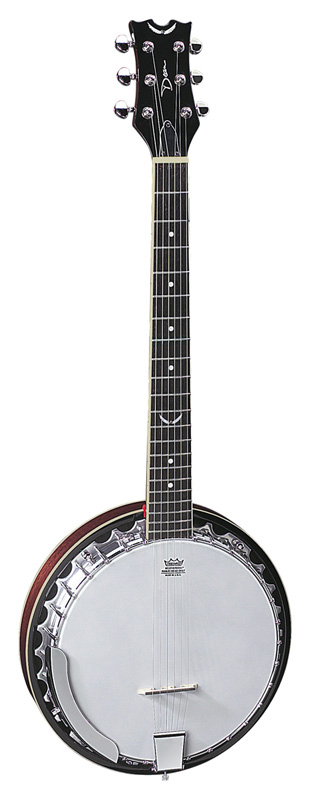Dean Acoustics Folk Series Banjos Backwoods 6 w/ Rosewood Fingerboard - Gloss Natural Finish (BW6)