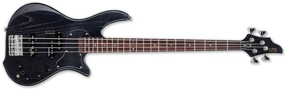 ESP LTD BB-4 SBLK BB Series Electric Bass Guitar with 3-Band Active EQ and See Thru Black Finish