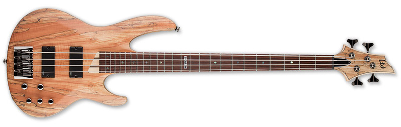 ESP LTD B-204SM B Series Bass Guitar - Natural Satin Finish Ash w/ Spalted Maple Top (LB204SMNS)