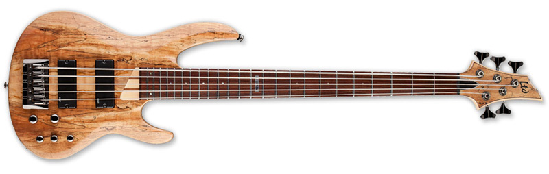 ESP LTD B-205SM B Series Bass Guitar - Natural Satin Finish Ash w/ Spalted Maple Top (LB205SMNS)
