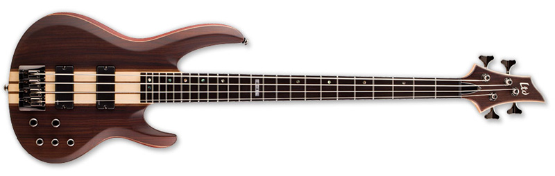 ESP LTD B-4E B Series Bass Guitar - Natural Satin Finish Mahogany w/ Ebony Top (LB4ENS)