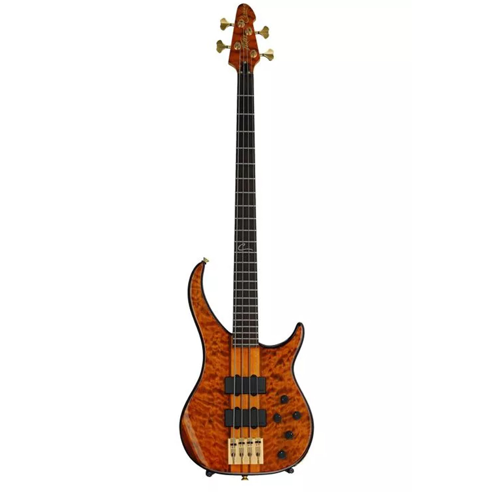 Peavey Cirrus 4 Tiger Eye String Electric Bass Guitar W Included Case 3026770