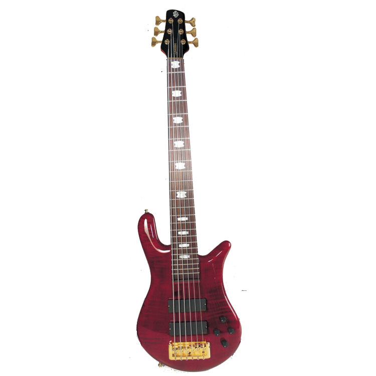 spector euro6lxbc 6 string euro6lx bass guitar with emg 45cs tw pickups in black cherry finish. Black Bedroom Furniture Sets. Home Design Ideas