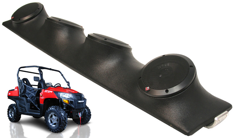 "Bennche Spire Rockford System R152 Custom Quad (4) 5 1/4"" Speakers Power Sports UTV Pod"