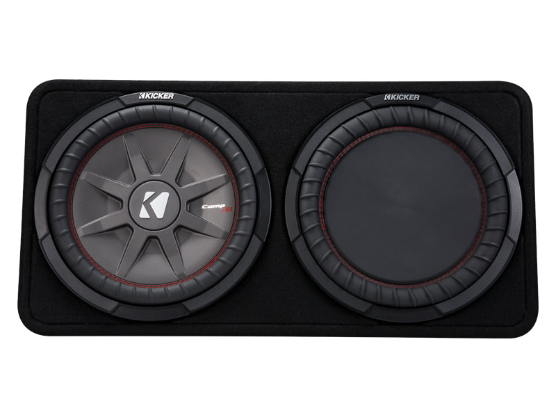 """Kicker 43TCWRT122 12"""" CompR Series Sub 500W RMS 2 Ohm Thin Profile Loaded Subwoofer Enclosure"""