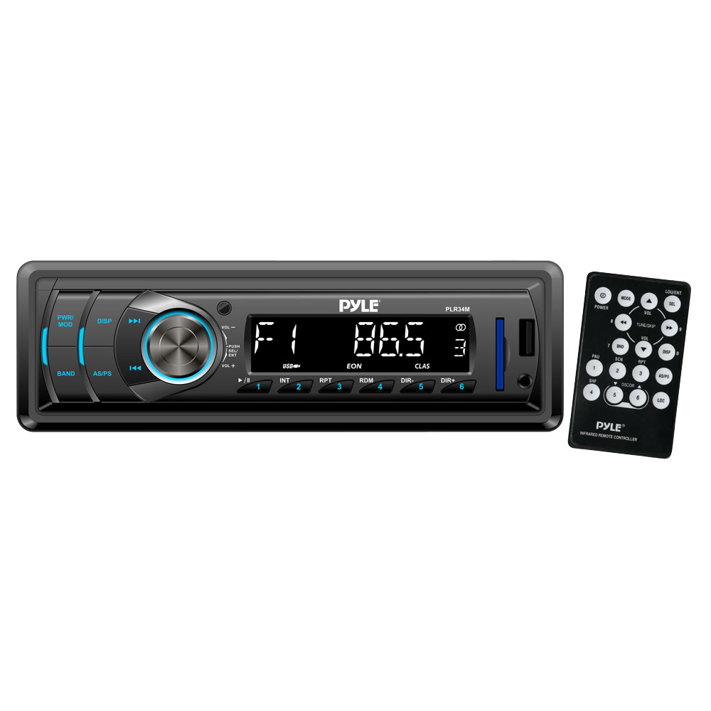 Pyle PLR34M In-Dash AM/FM-MPX Receiver with MP3 Playback & USB / SD / Aux Inputs