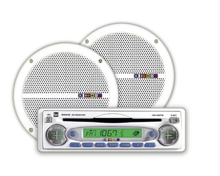 Dual Audio MXCP40 Marine Audio CD Player Receiver + 6  Marine Speaker