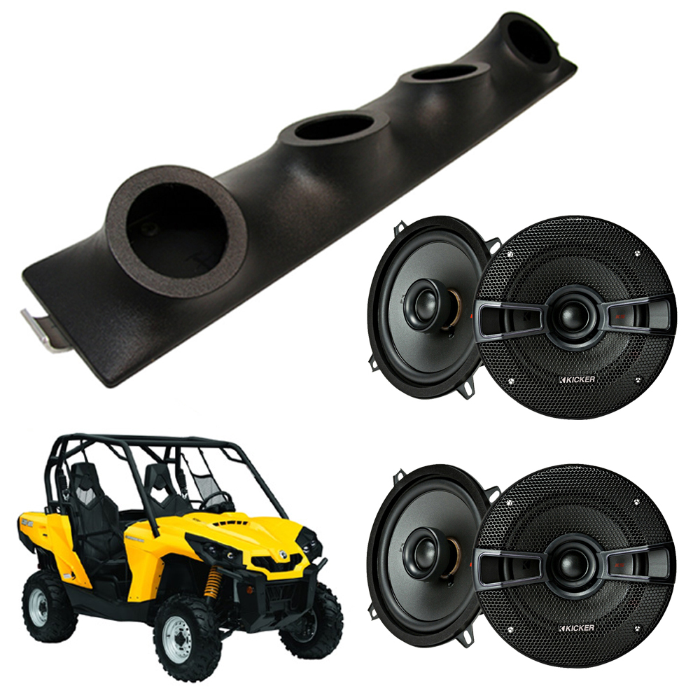 "Can-Am Commander Kicker System KSC50 Custom Quad (4) 5 1/4"" Speakers Power Sports UTV Pod"