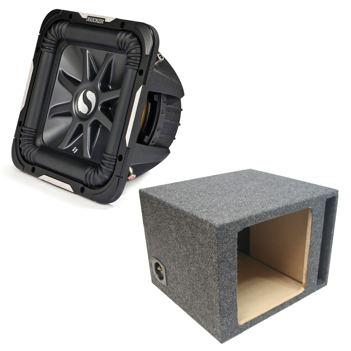 "Kicker 11S15L74 Solobaric L7 Subwoofer Single 15"" Vented Sub Enclosure Box New"
