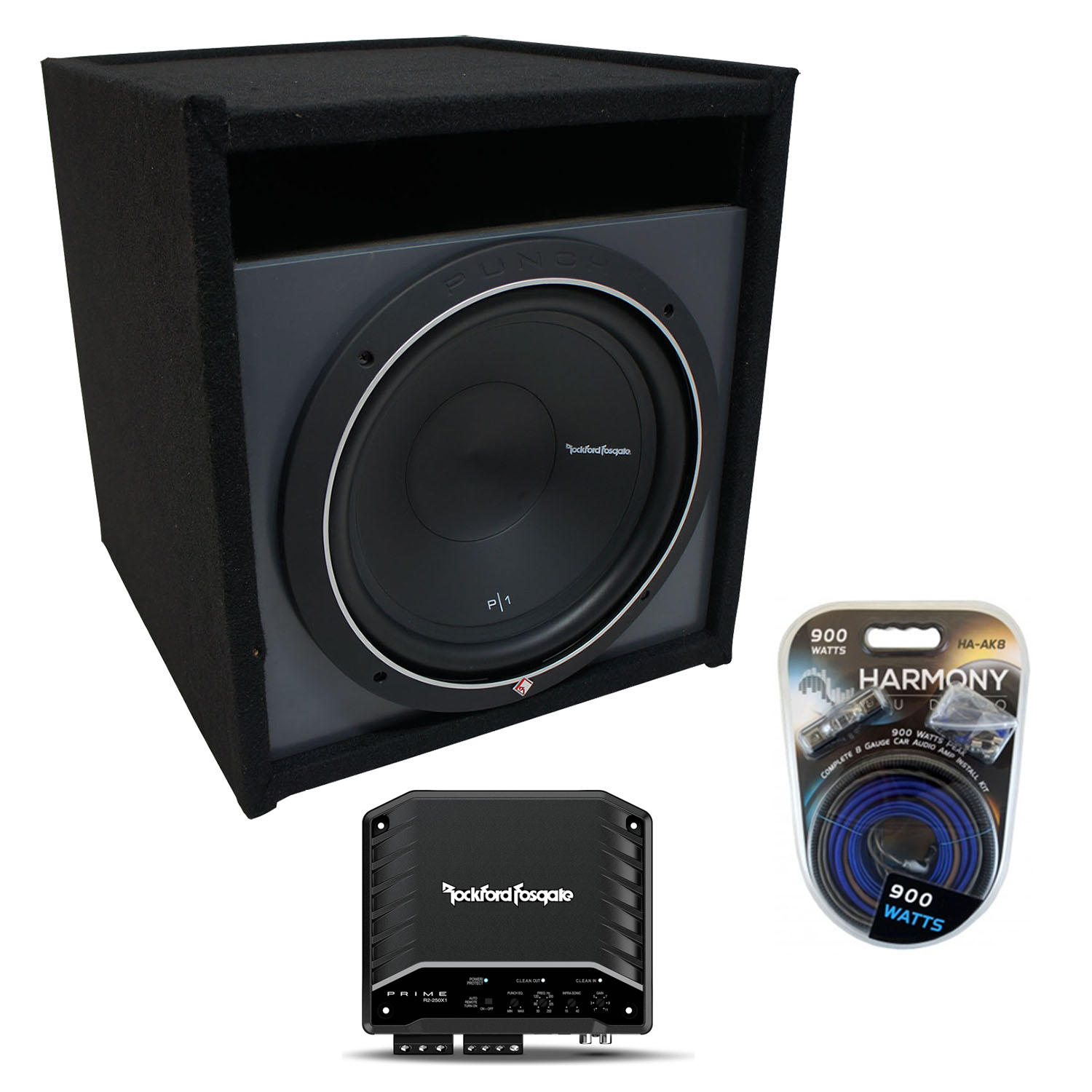 """Universal Car Stereo Paintable Ported 15"""" Rockford Punch"""