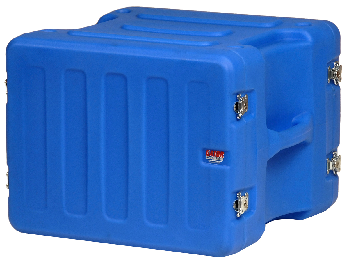 "Gator Cases G-PRO-8U-19-BL Blue Pro-Series Molded Mil-Grade PE Rack Case; 8U, 19"" Deep"