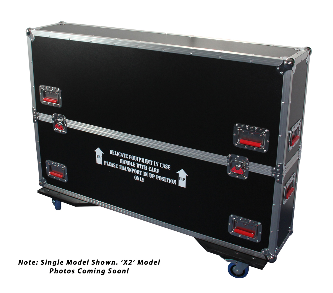 Gator Cases G-TOURLCDV2-3743-X2 G-TOUR case designed to easily adjust and fit two LCD, LED or plasma screens in the 37 to 43 inch class. Interior dims 43 X 6.3 X 30.5 (X2) (Available Q4 2012)