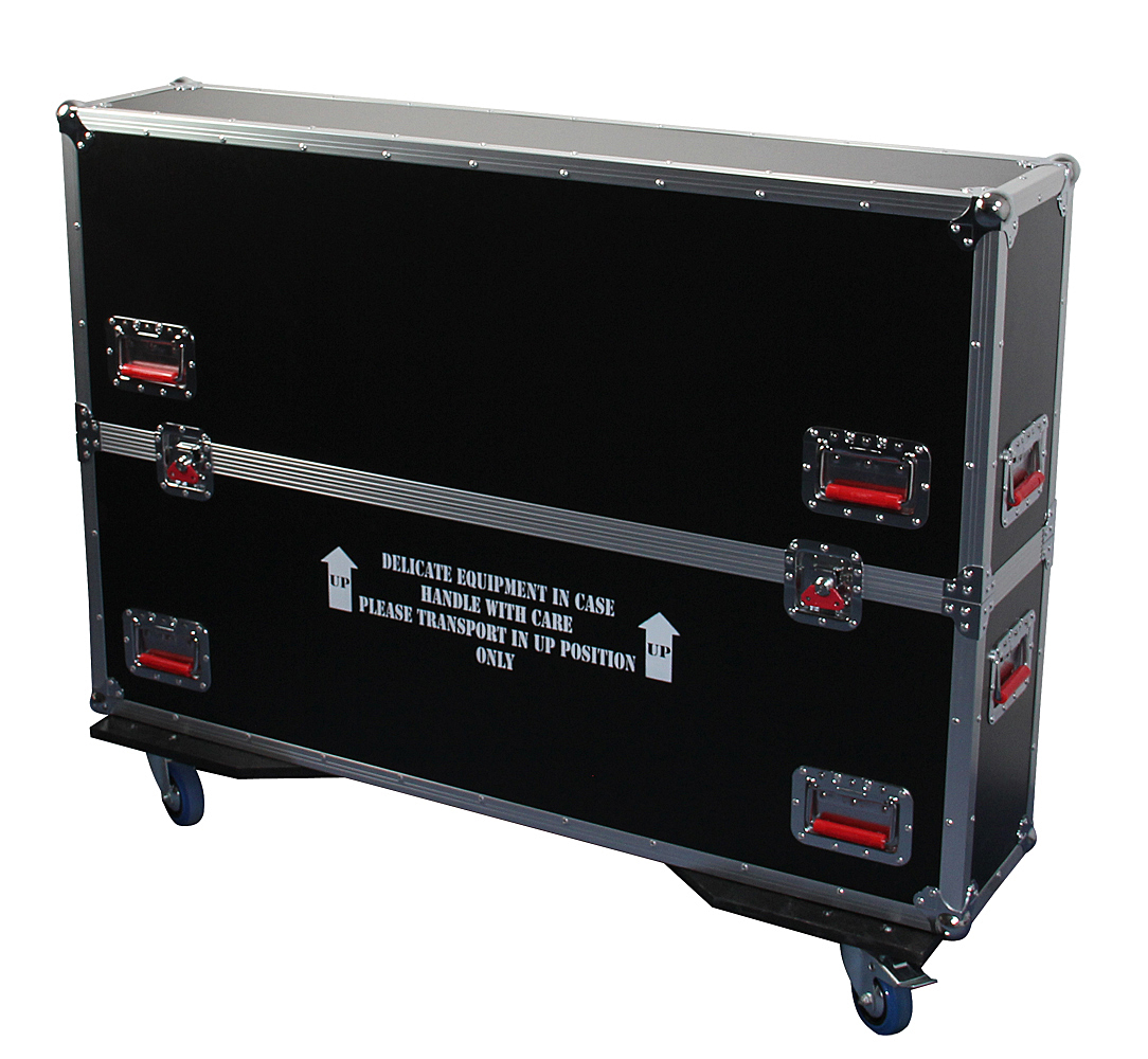 Gator Cases G-TOURLCDV2-4350 G-TOUR case designed to easily adjust and fit most LCD, LED or plasma screens in the 43 to 50 inch class. Interior dims 49.5 X 6.3 X 30.5 (NEW SIZE) (Available Q4 2012)