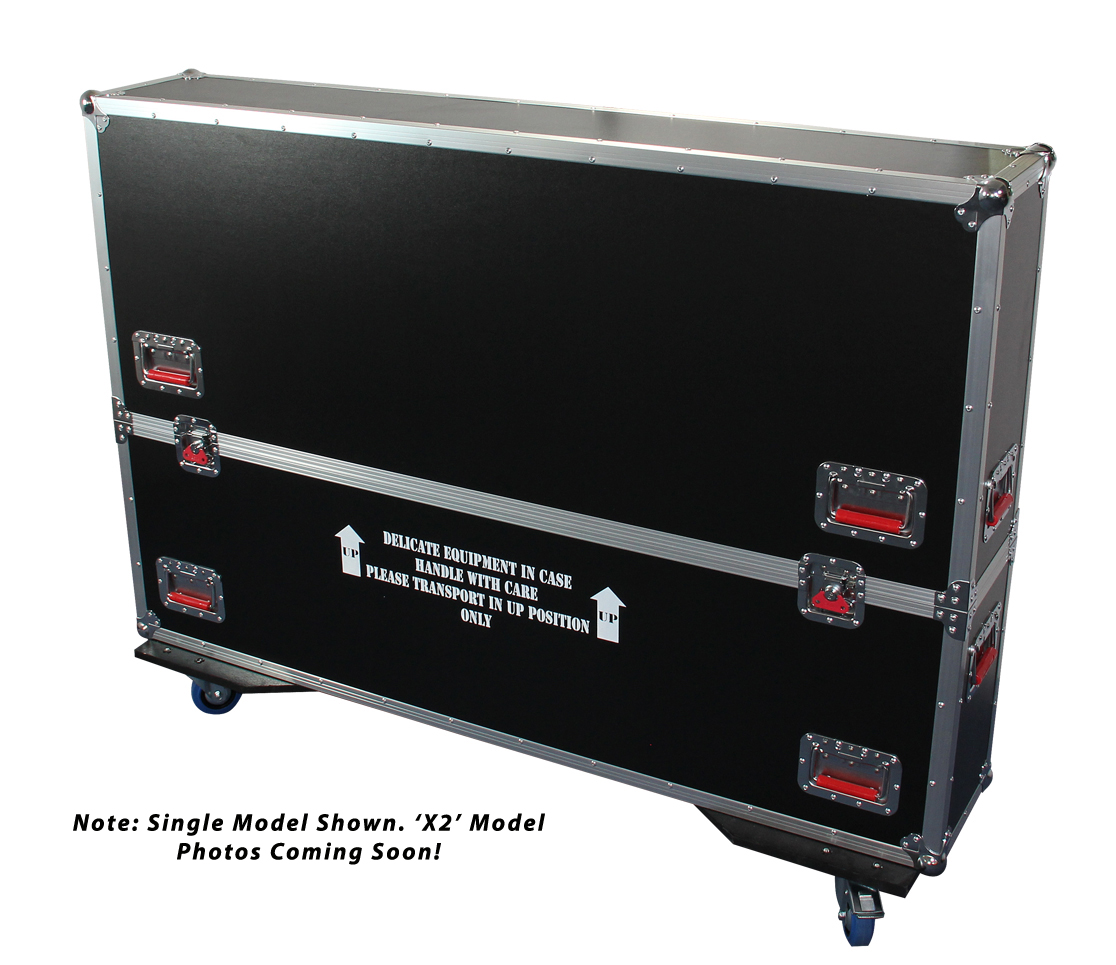 Gator Cases G-TOURLCDV2-5055-X2 G-TOUR case designed to easily adjust and fit two LCD, LED or plasma screens in the 50 to 55 inch class. Interior dims 55 X 6.3 X 35 (X2) (Available Q4 2012)