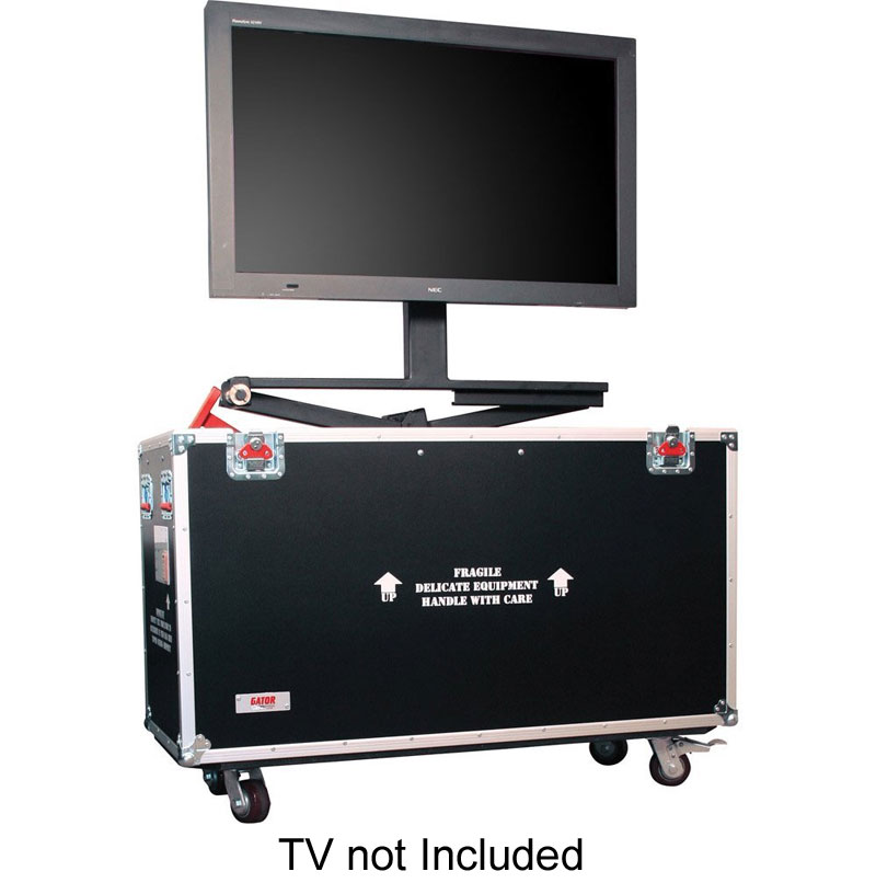 "Gator Cases G-TOURLCDLIFT55 55"" Screen LCD / PLASMA ROAD CASE - ATA Wood Flight with Hydraulic Lift & Wheel Casters"