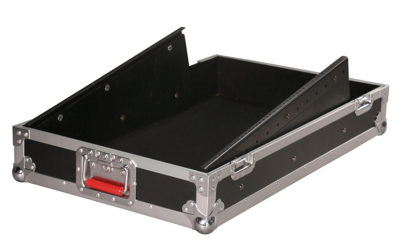Gator Cases G-TOUR-SLMX10 10U Fixed Angle Slant Top Mixer Case with Rear Access