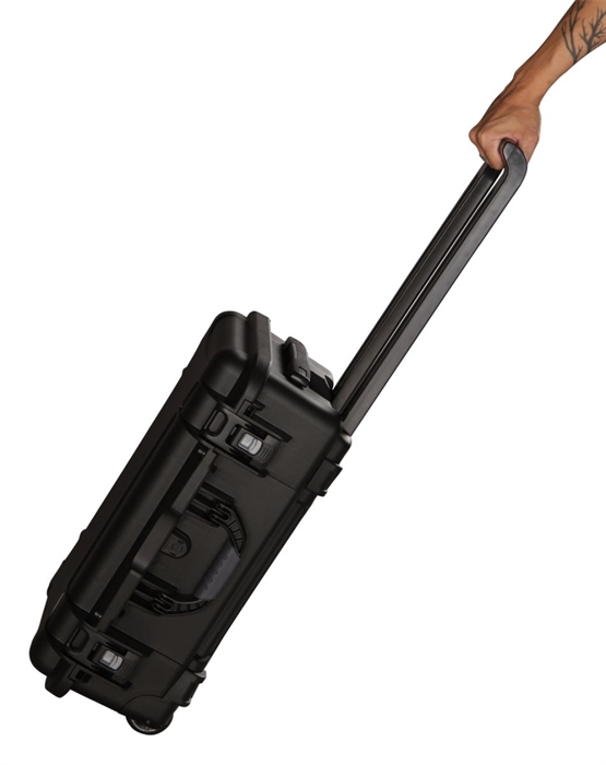 Gator Cases GU-2015-10-WPDF Black Injection Molded Case Diced Foam with Pullout Handle and Inline Wheels