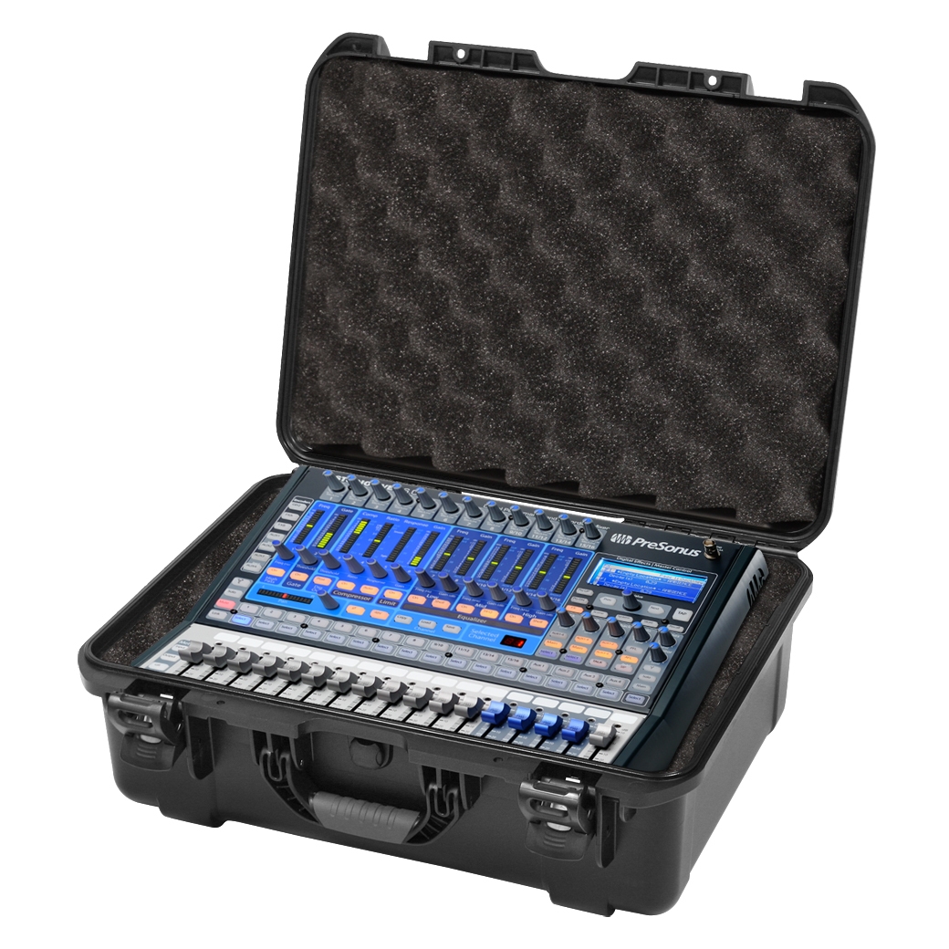 Gator Cases GMIX-PRESON1602-WP Black waterproof injection molded case with foam insert custom fit for Presonus Studio Live 16.0.2