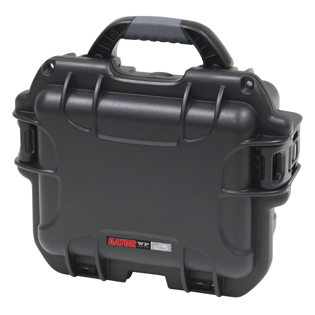 "Gator Cases GU-0907-05-WPNF Black waterproof injection molded case with interior dimensions of 9.4"" x 7.4"" x 5.5"" . NO FOAM"