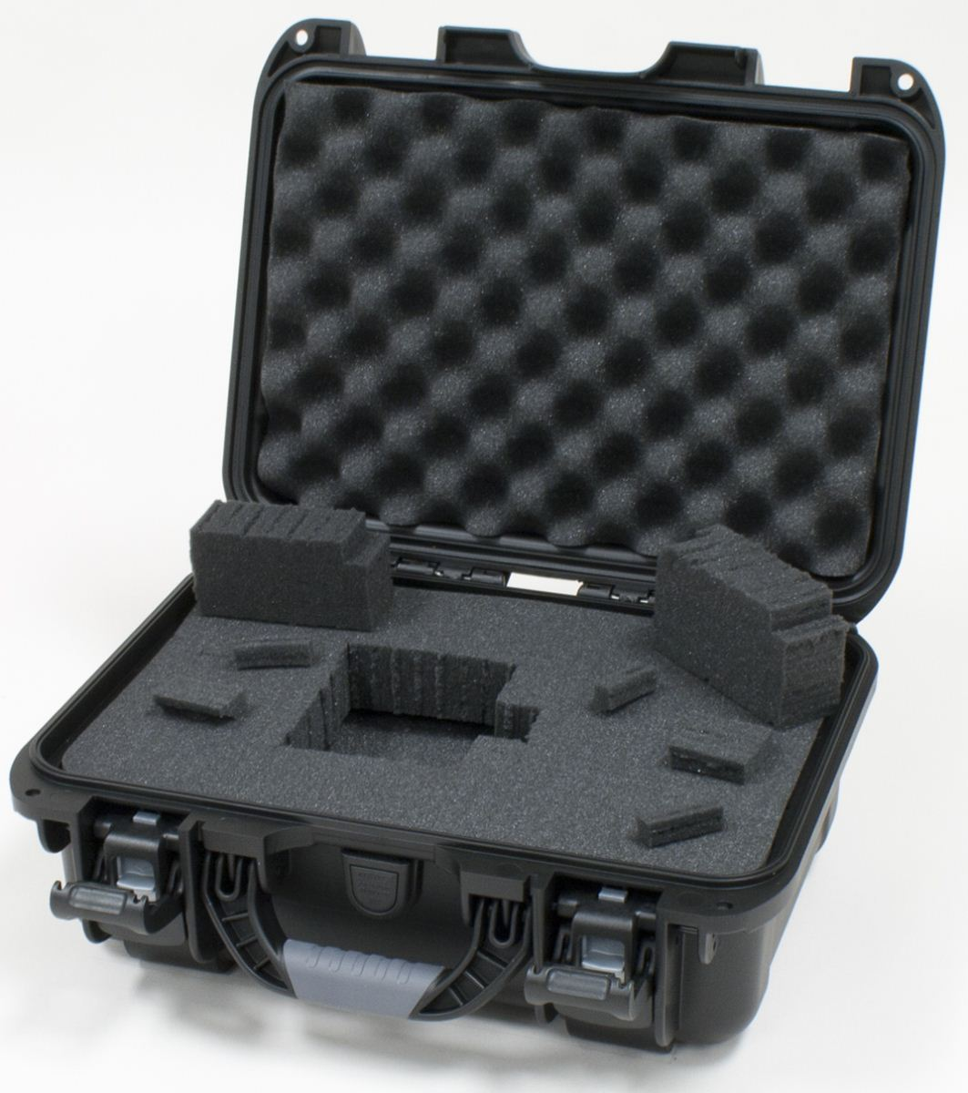 """Gator Cases GU-1309-06-WPDF Black waterproof injection molded case with interior dimensions of 13.8"""" x 9.3"""" x 6.2"""". DICED FOAM"""