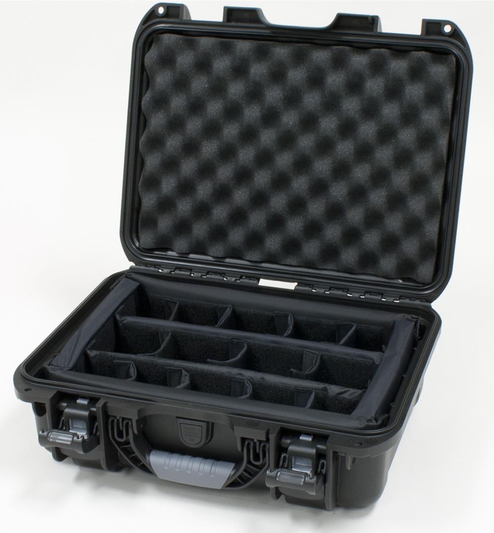 "Gator Cases GU-1510-06-WPDV Black waterproof injection molded case with interior dimensions of 15"" x 10.5"" x 6.2"".  Internal divider system"