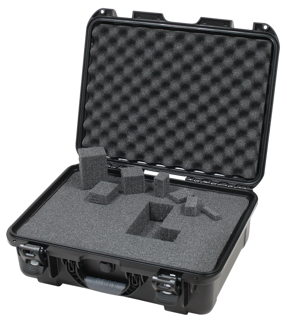 """Gator Cases GU-1813-06-WPDF Black waterproof injection molded case with interior dimensions of 18"""" x 13"""" x 6.9"""". DICED FOAM"""