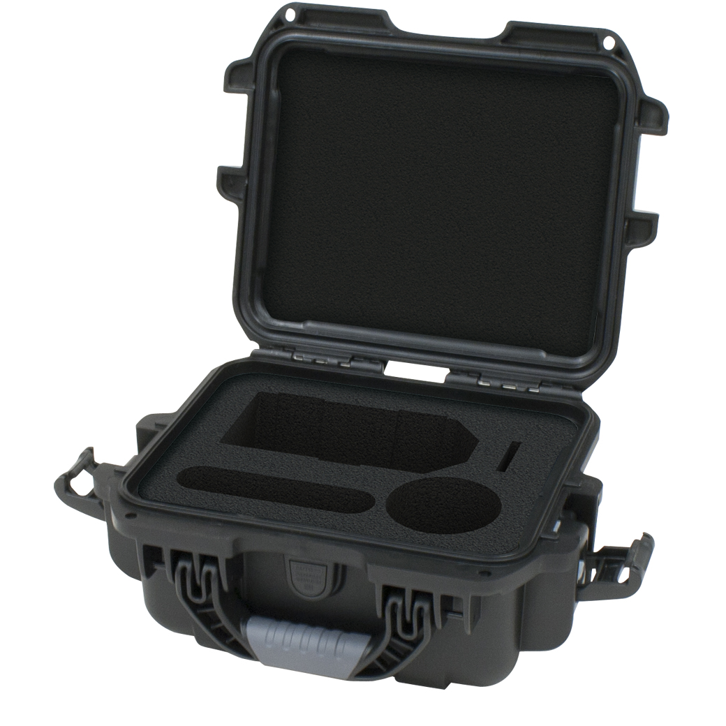 Gator Cases GU-ZOOMH4N-WP Black waterproof injection molded case with foam insert custom fit foam to fit Zoom H4N hand held recorder and accessories