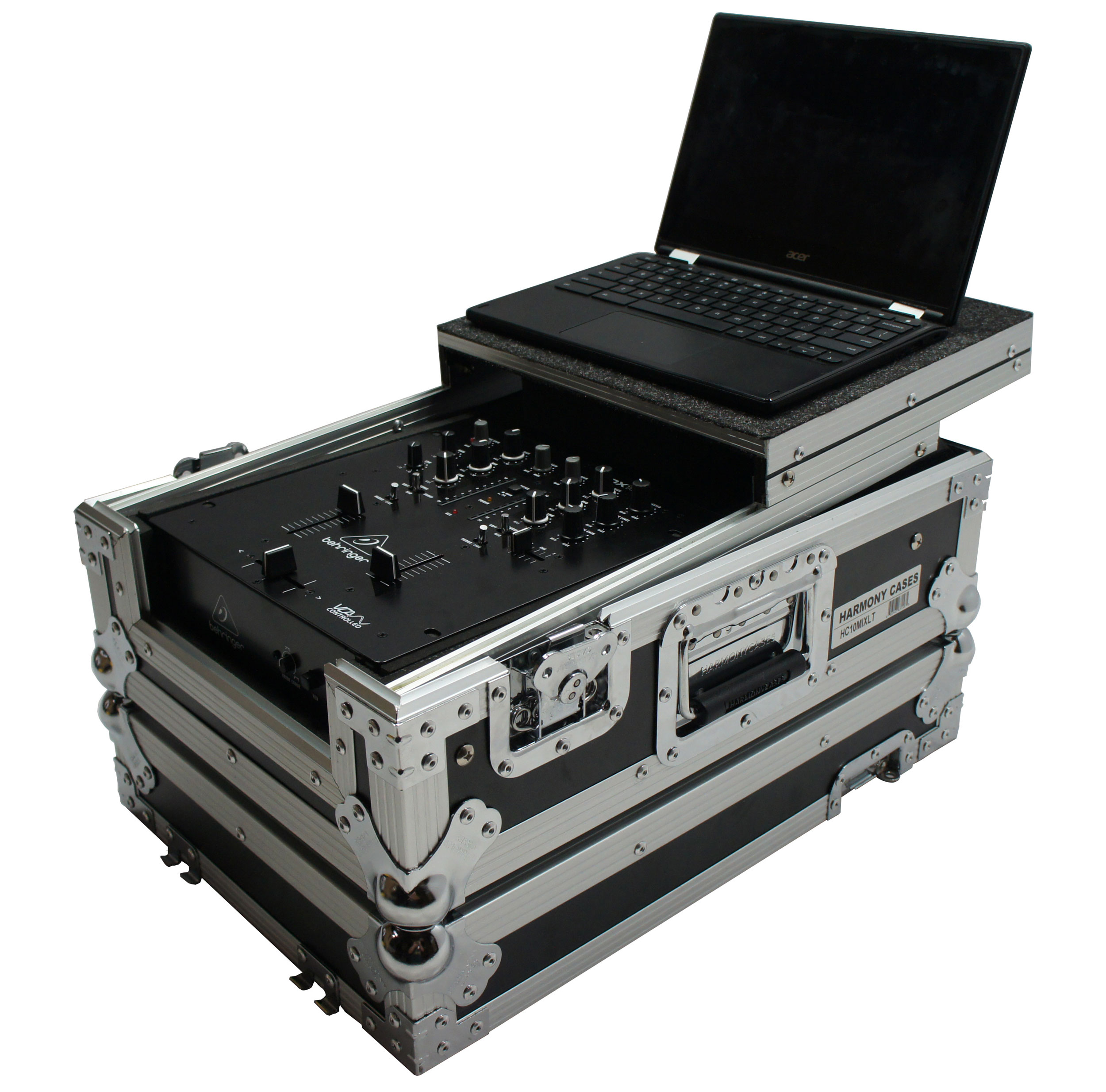 "Harmony HC10MIXLT Flight DJ Laptop Glide 10"" Mixer Case Allen & Heath Xone: 23"