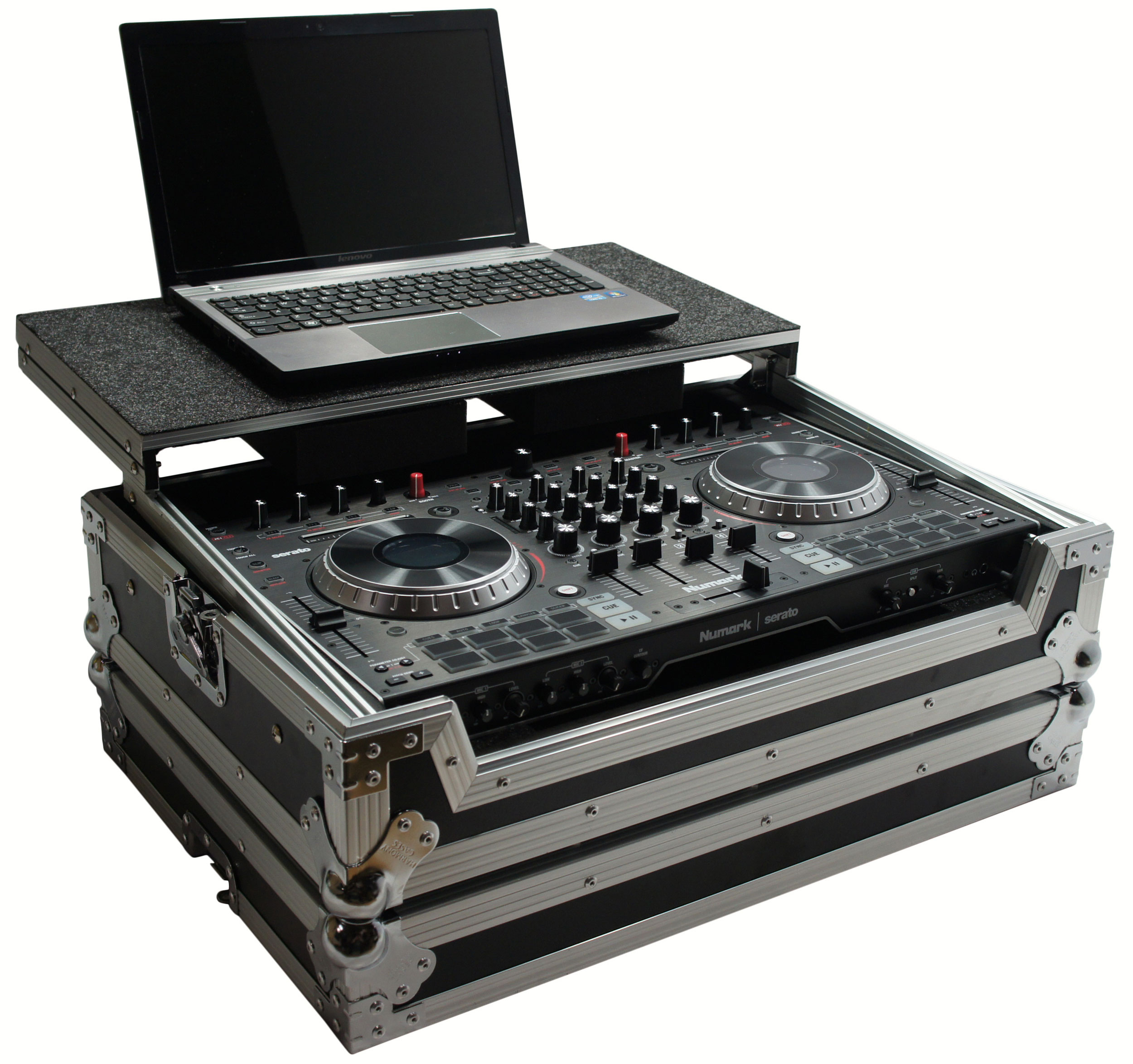 Harmony HCNS6IILT Flight Ready Glide Laptop Stand DJ Case for Numark NS6 II