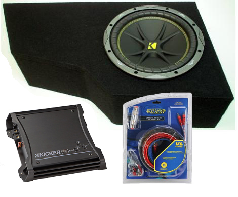 "GMC Envoy 02-08 12"" C12 Amplified Kicker Sub Box Enclosure W/ ZX400.1"